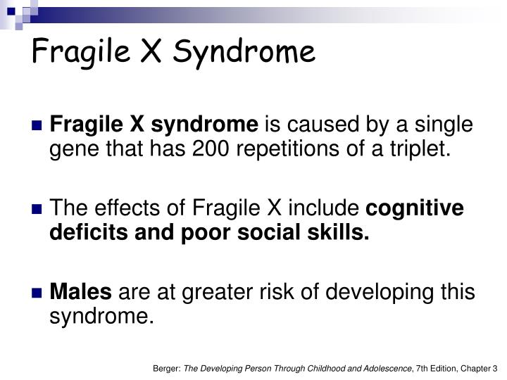 fragile x essay Our student essay competition is a small but important part of the work we do  of  rare diseases including fragile x syndrome, peutz-jeghers syndrome and.