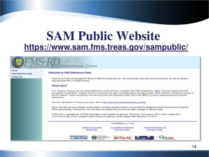 SAM Public Website