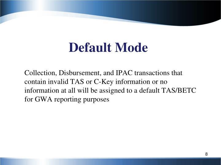 Default Mode