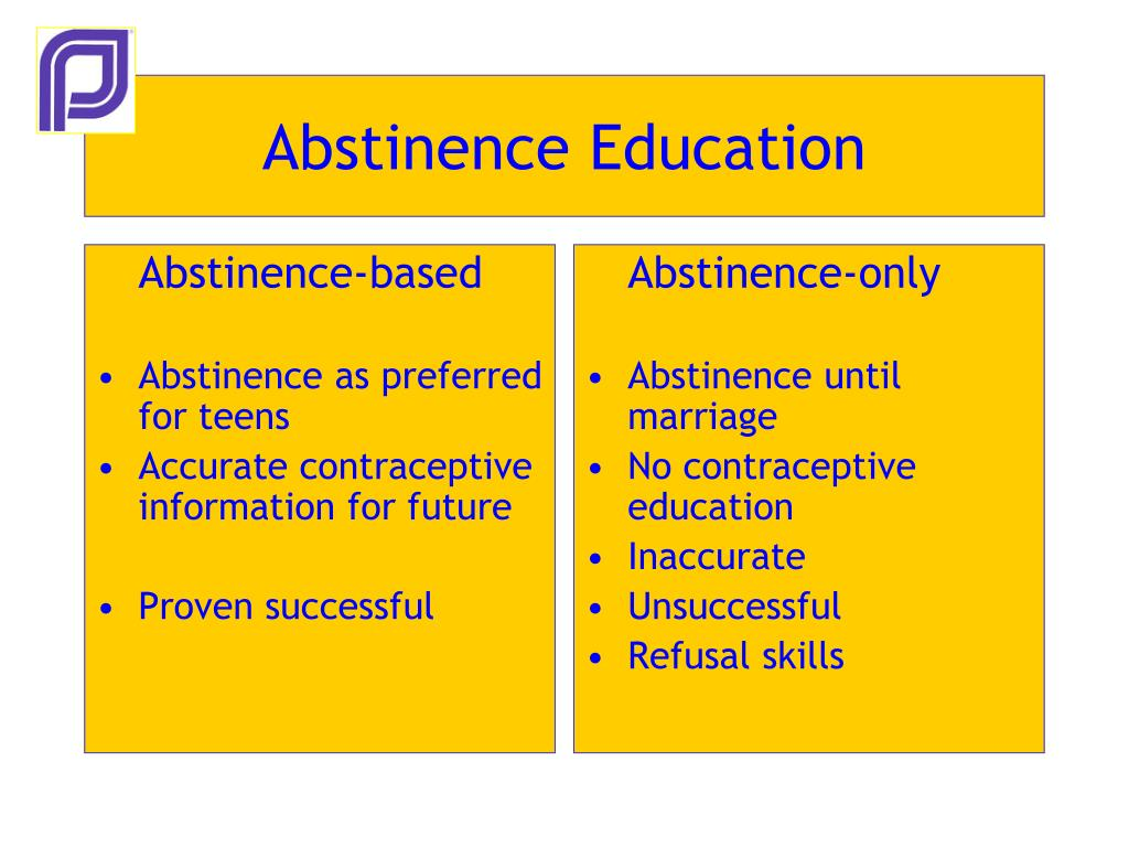Abstinence-based