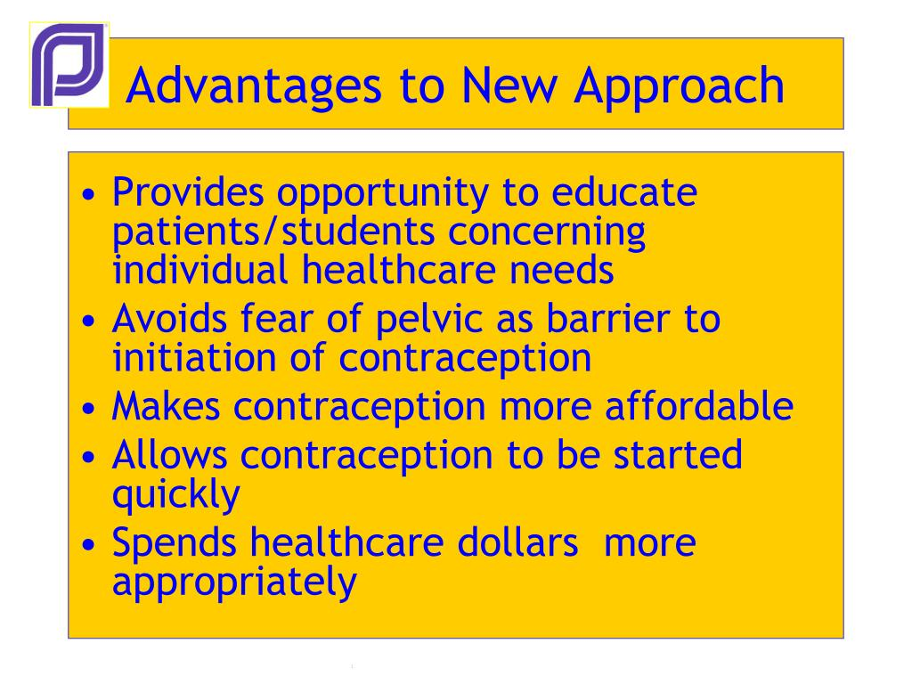 Advantages to New Approach