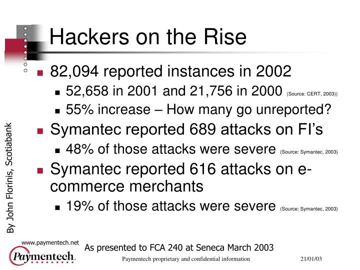 Hackers on the rise