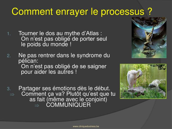 Comment enrayer le processus ?