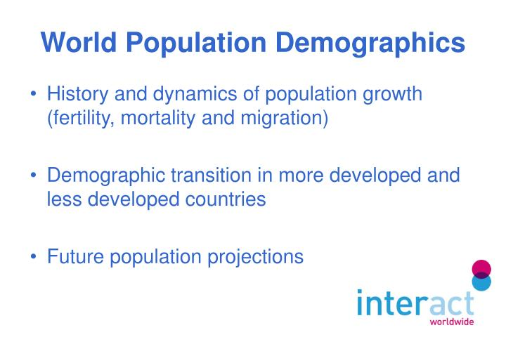 World population demographics