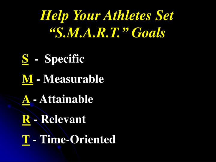 Help Your Athletes Set