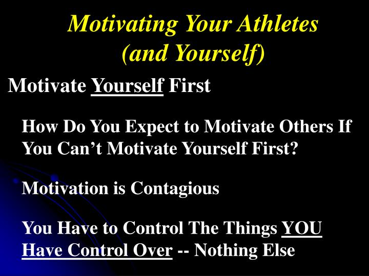 Motivating Your Athletes