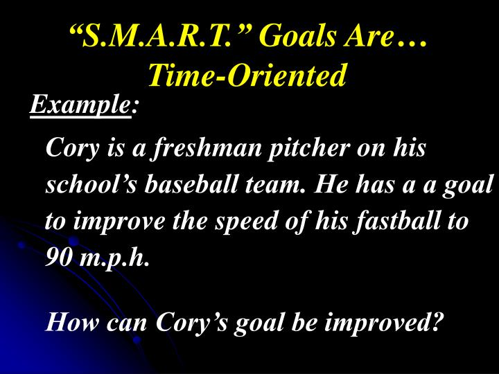 """S.M.A.R.T."" Goals Are…"