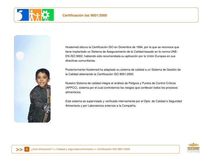 Certificación iso 9001/2000