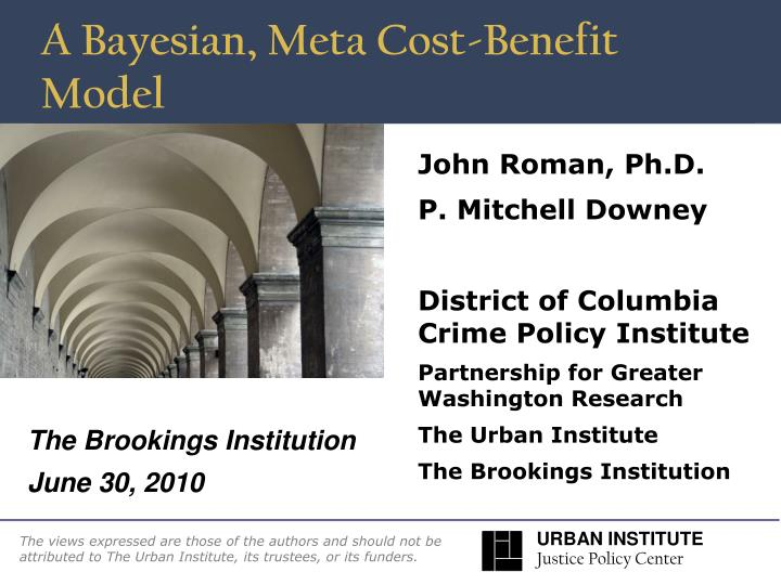 A bayesian meta cost benefit model