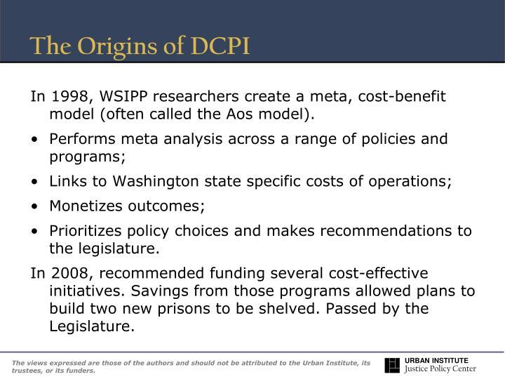 The Origins of DCPI