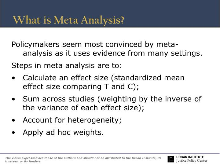 What is Meta Analysis?