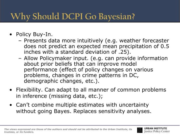 Why Should DCPI Go Bayesian?
