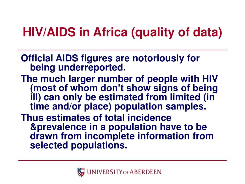 HIV/AIDS in Africa (quality of data)