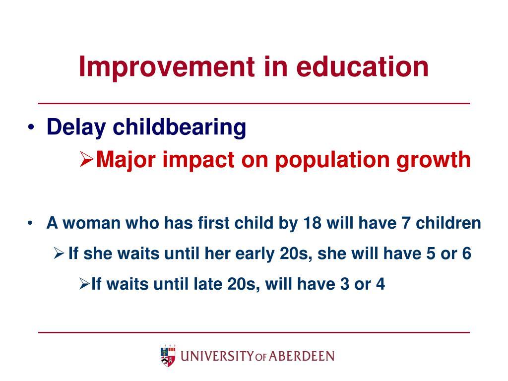 Improvement in education