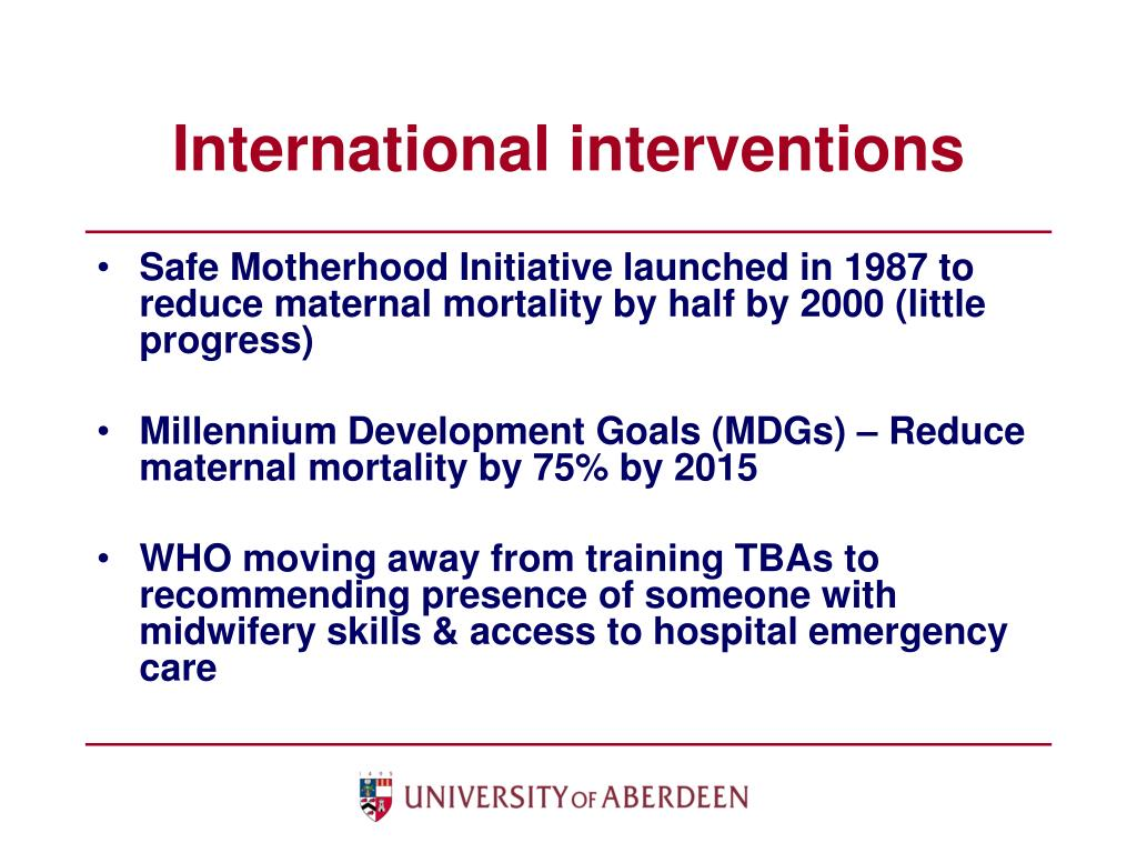 International interventions