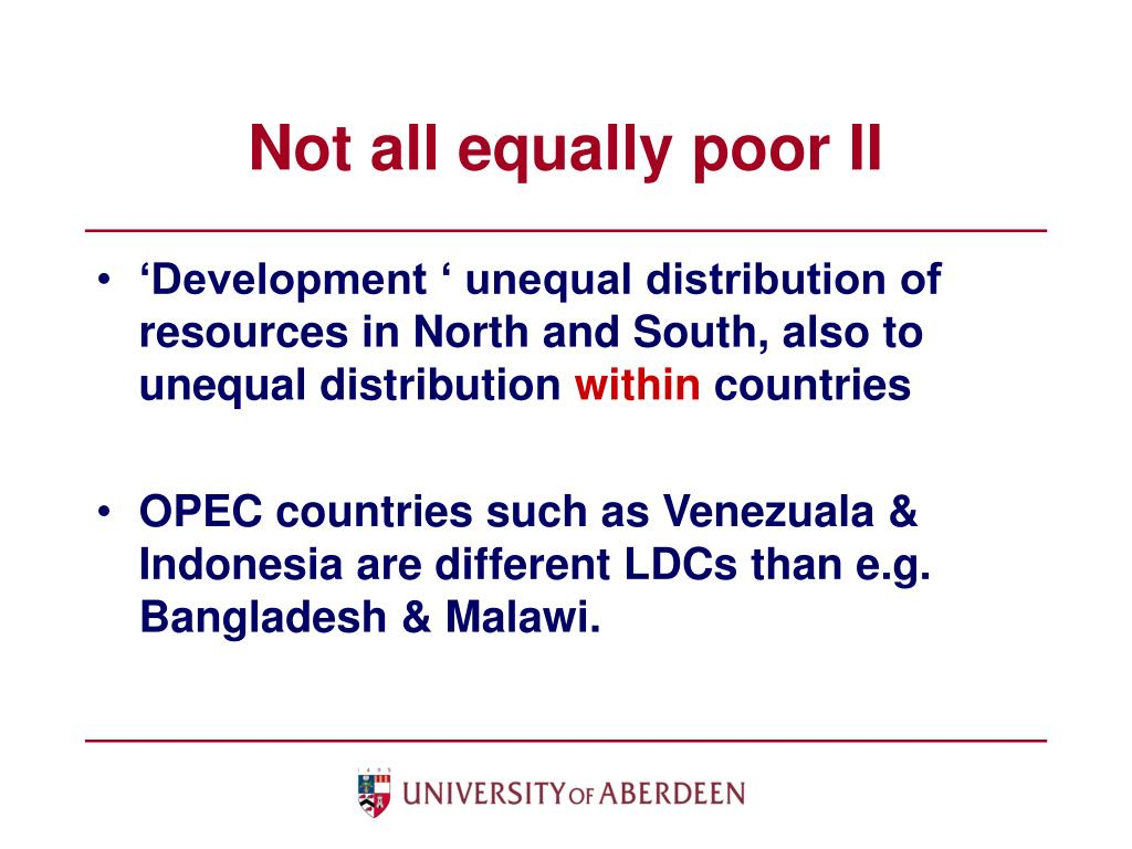 Not all equally poor II