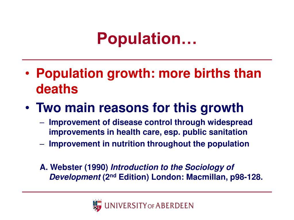 Population…