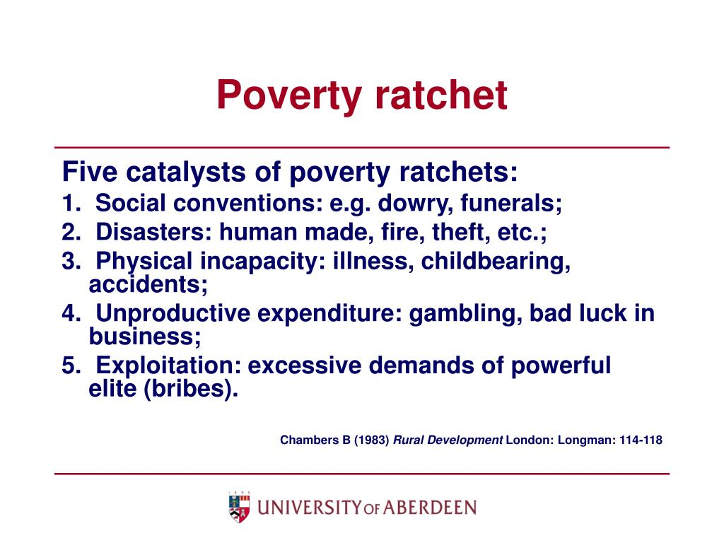 Poverty ratchet