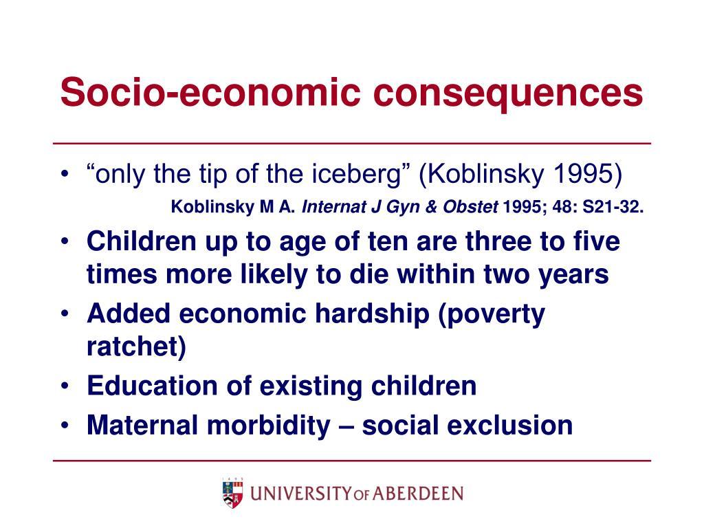 Socio-economic consequences