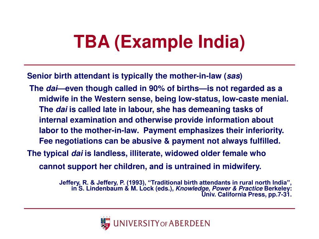 TBA (Example India)