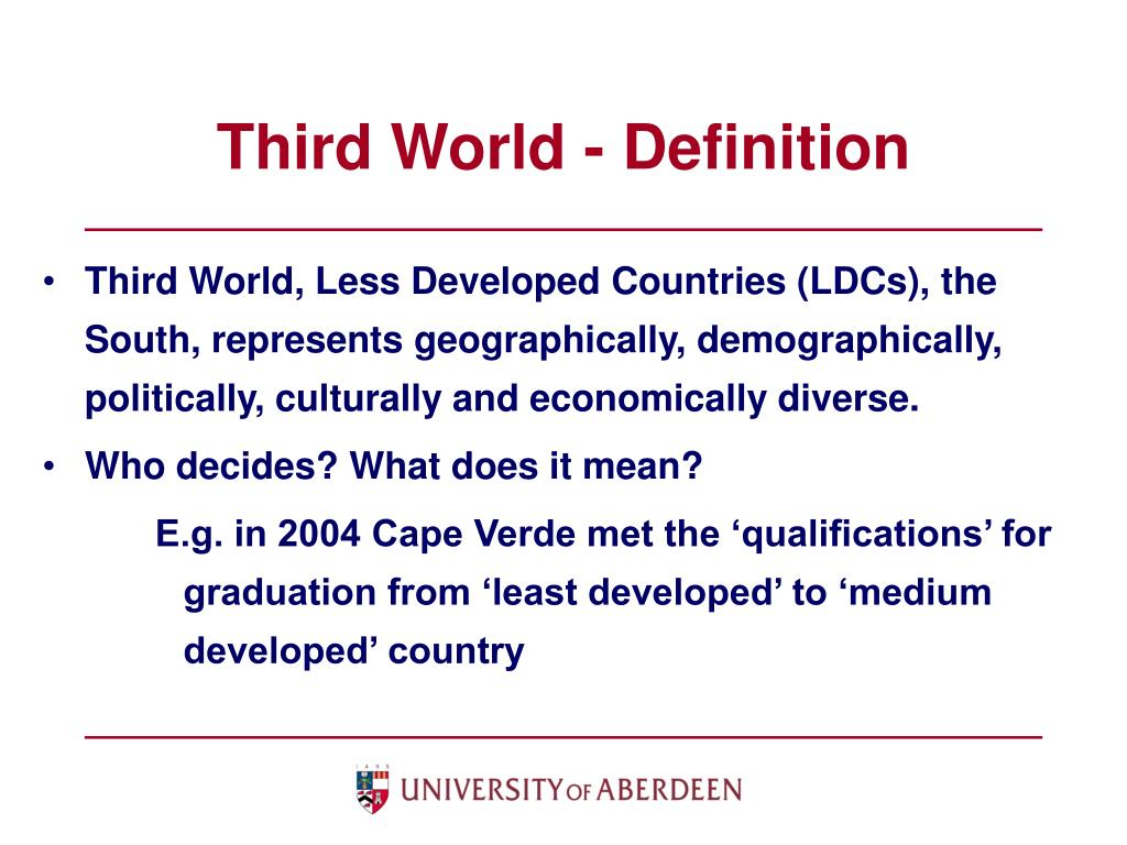 Third World - Definition