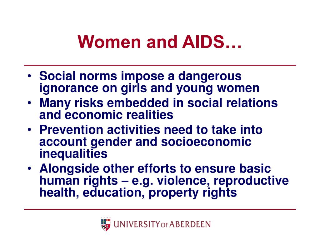 Women and AIDS…
