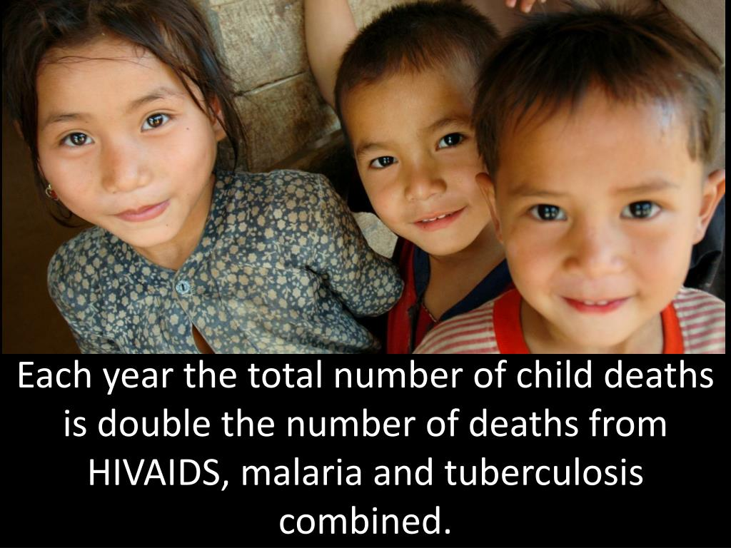 Each year the total number of child deaths