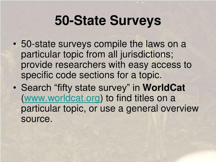 50-State Surveys