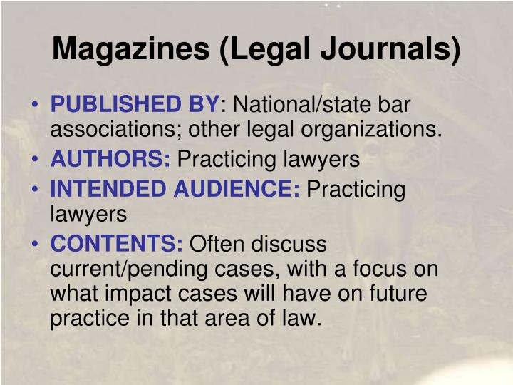 Magazines (Legal Journals)