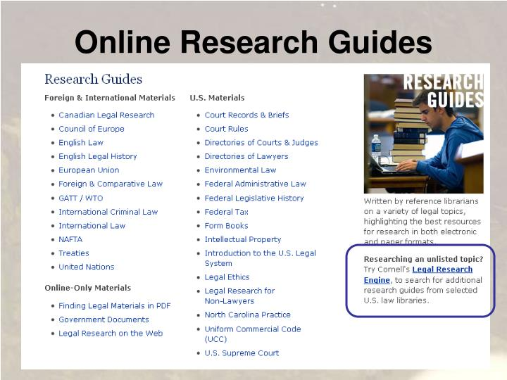 Online Research Guides