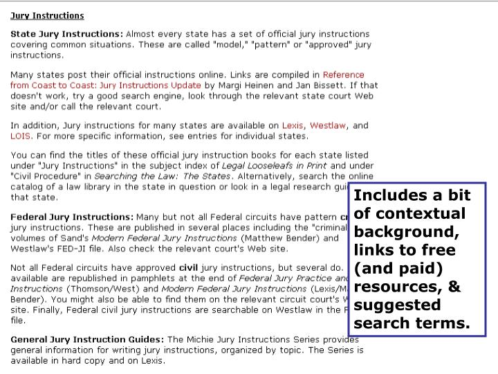 Includes a bit of contextual background, links to free (and paid) resources, & suggested search terms.