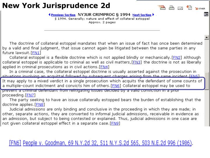 New York Jurisprudence 2d