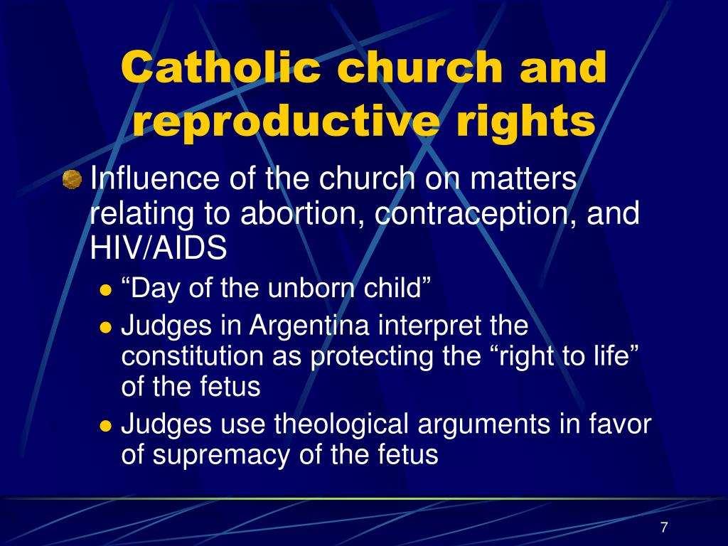 Catholic church and reproductive rights