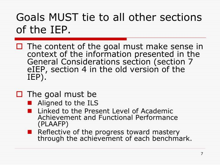 iep goal for writing
