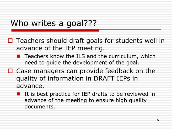 how to write goals for iep