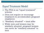 equal treatment model