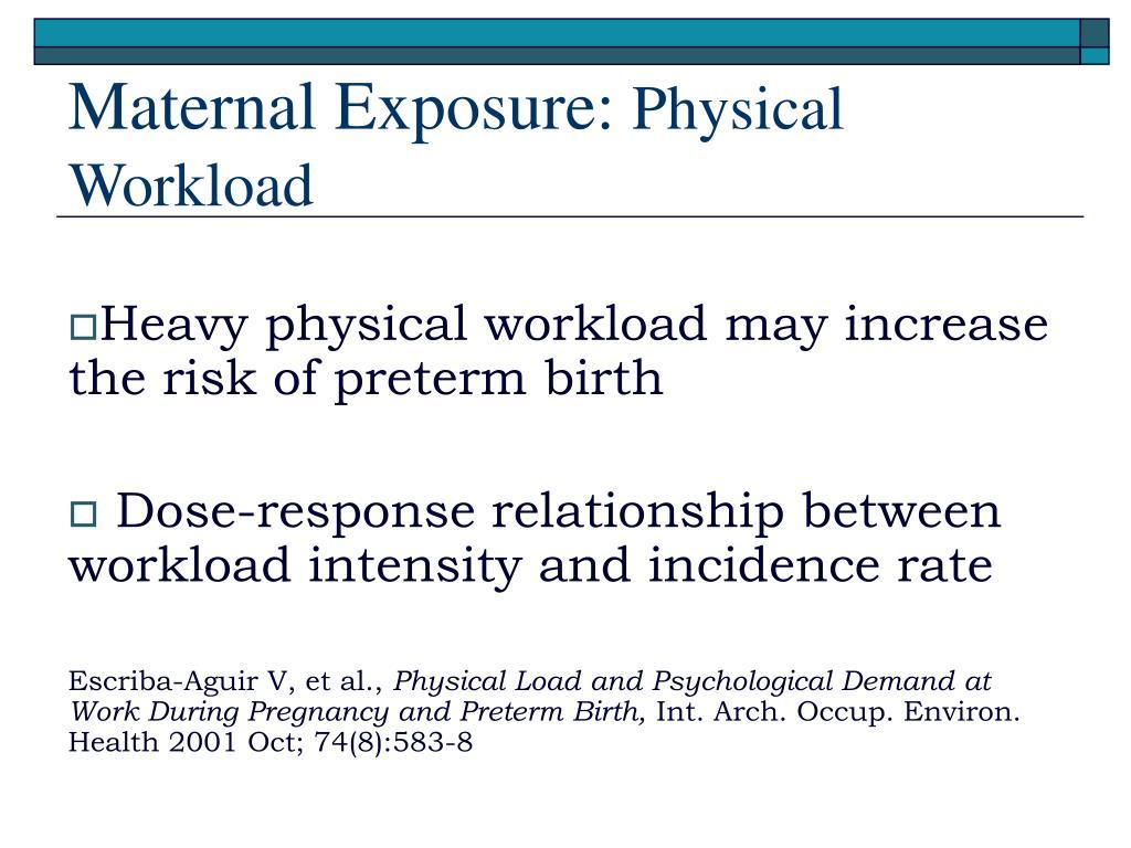 Maternal Exposure: