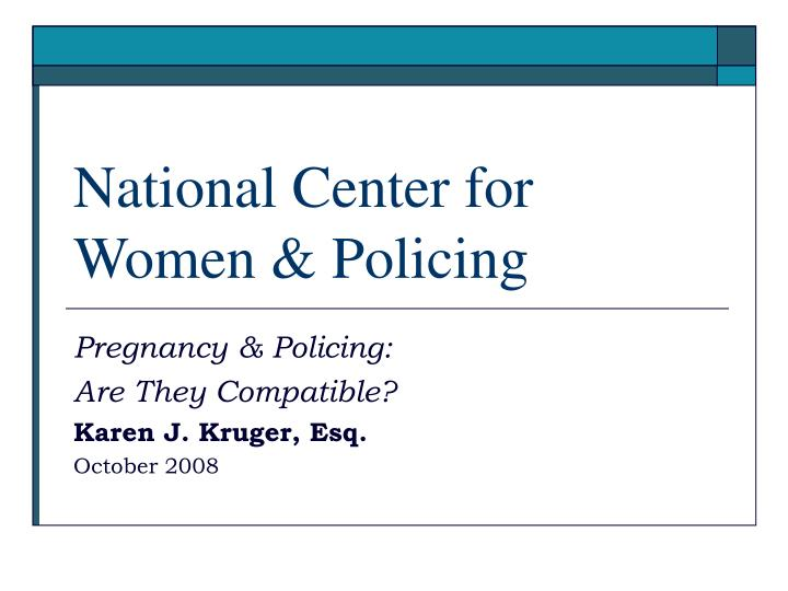 National center for women policing