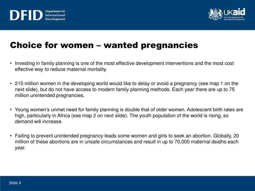 Choice for women – wanted pregnancies