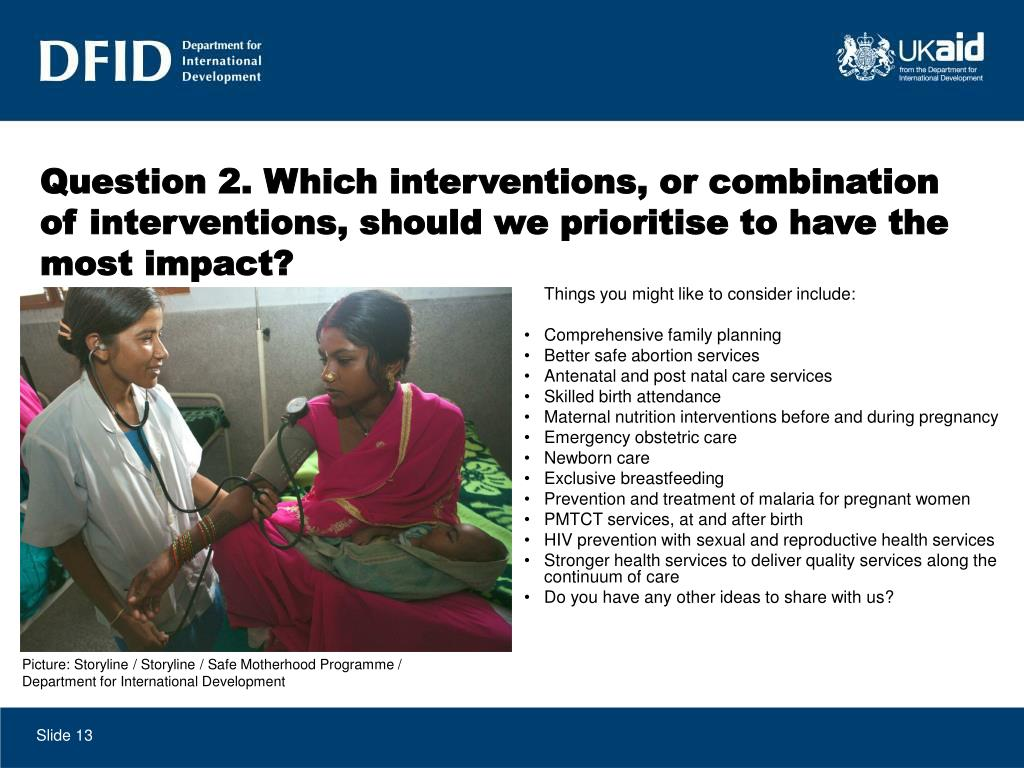 Question 2. Which interventions, or combination of interventions, should we prioritise to have the most impact?