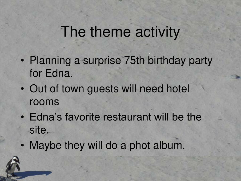 The theme activity