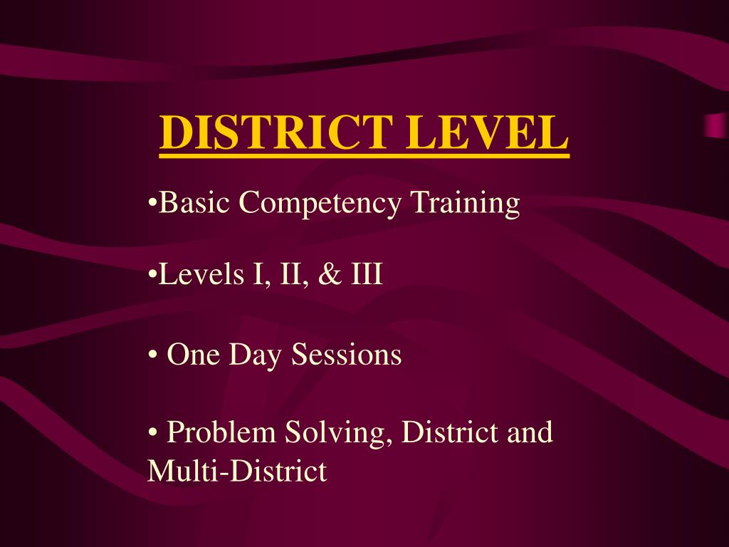 Basic Competency Training