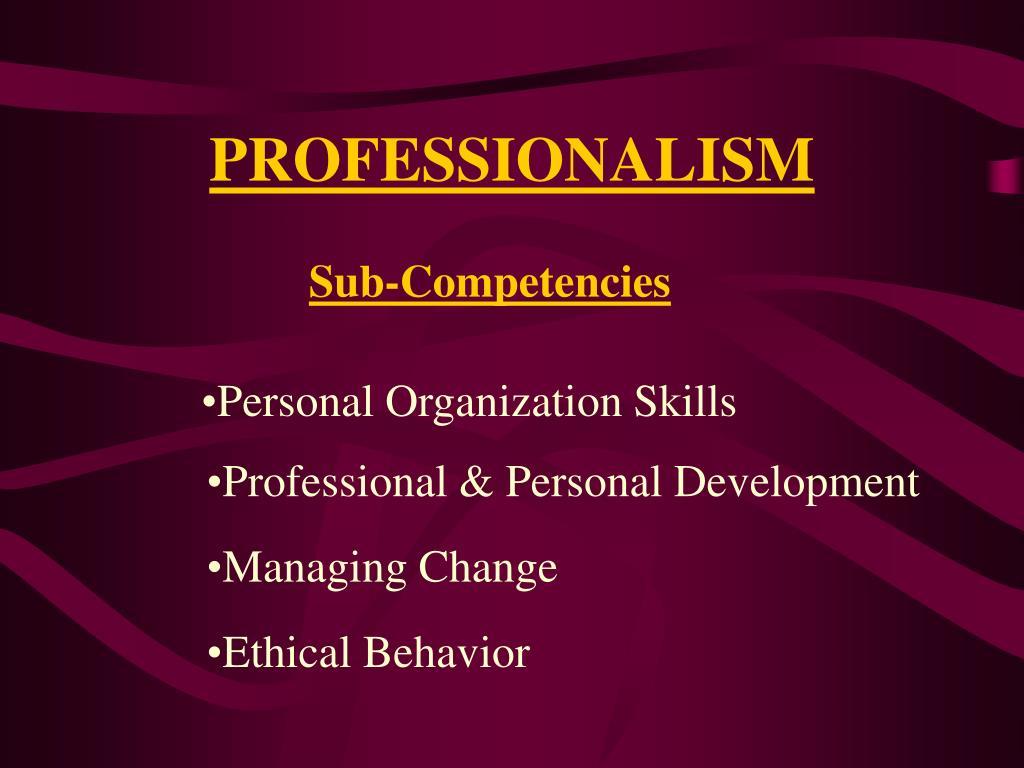 Sub-Competencies