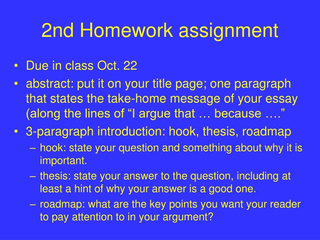 2nd Homework assignment