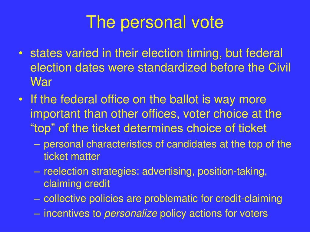 The personal vote