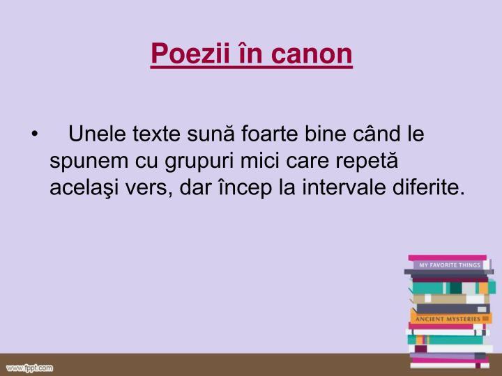 Poezii în canon