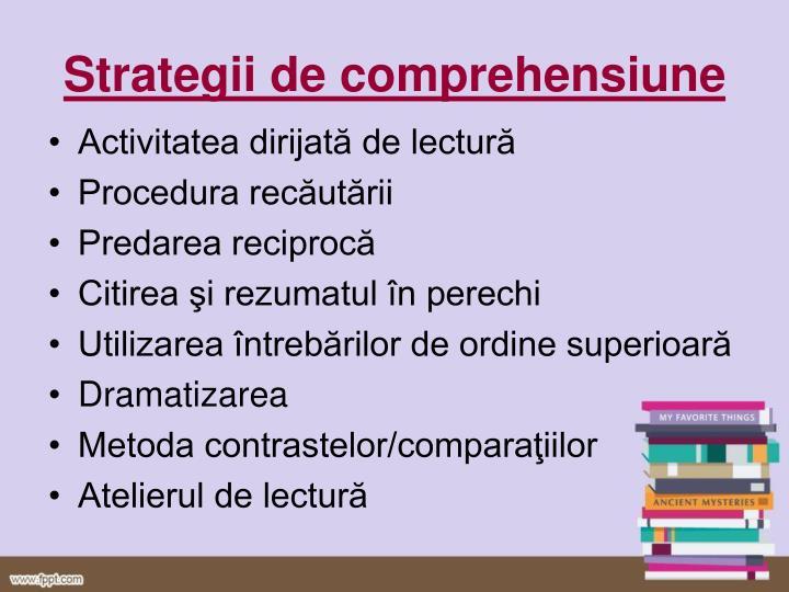 Strategii de comprehensiune