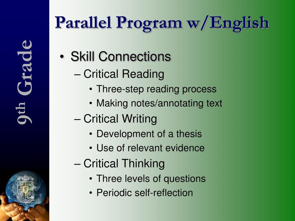 Parallel Program w/English