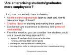 are enterprising students graduates more employable2