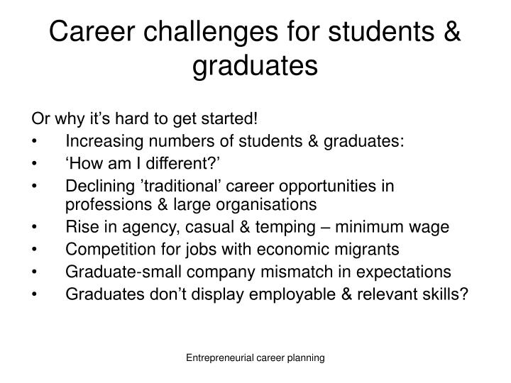 Career challenges for students graduates